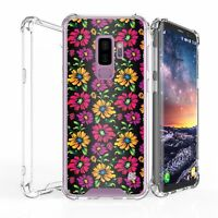 For Galaxy S9+ Slim Bumper Shockproof Case Tropic Floral