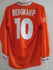 Holland 1994 Bergkamp # 10 home football shirt manches longues grande taille / 35442