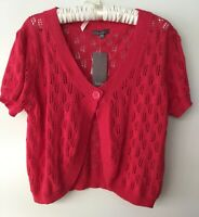Katies Vintage Knitted Red Bolero Top Cardigan Swing Rockabilly Pinup size XXL