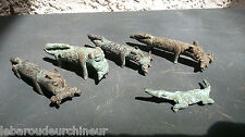 lot Miniatures leopard en bronze. Old miniature leopard