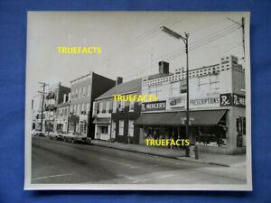 1974 Snow White Grill, Mercers Pharmacy N. Market St Frederick Md 8x10 B&W Photo