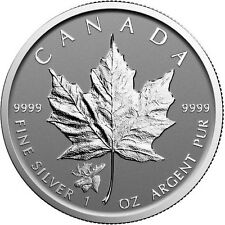 2017 1 Oz Canadian Silver Maple Leaf Moose Privy - Reverse Proof - BU - 9999