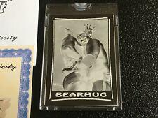 1987 Topps WWF Topps Vault Mask Negative #59 Bearhug Jim Anvil Neidhart WWE 1/1
