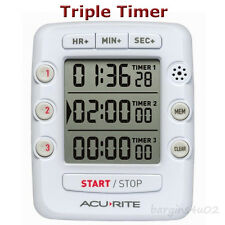Acurite Triple Event Digital Timer Jumbo Display Count Up or Down Loud Alert New