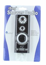 Portable Shower Radio With digital Clock Water Resistant With Suction Cups Ising