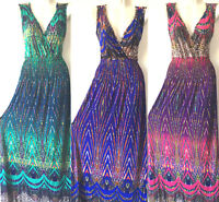 PLUS SIZE Women Long Maxi summer beach hawaiian Boho evening party sundress #11