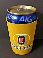 Foster's Beer Xxl'er Oil Can Koozie 25.4oz Yellow Fosters - One (1) - New & F/S