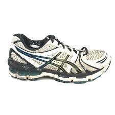 Asics Gel Kayano 18 Running Shoes Mens Size 8.5 8 1/2 9 White Blue Sneakers