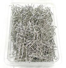 """Jewelry U-Pins Display Pads Pins Silver Jewelry 1000pc Silver Tone 1"""" U Pins"""