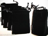 LOT OF 10 Mary Kay Classic Black Velvet Jewelry Pouch/Cosmetic Beauty Bag