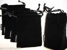 LOT OF 5 New Mary Kay Classic Black Velvet Jewelry Pouch/Cosmetic Beauty Bag