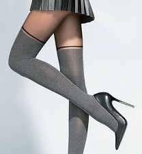 "Fiore ""Carola ""  Mock SuspenderTights Collection Patterned Tights 40 Denier New"