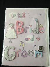 """Second Nature Gigantic Card   To The Bride And Groom      9"""" x 11 3/4""""    New"""