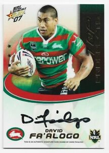 2007 Rugby League Top Prospects TP13 David Fa'alogo Souths Rabbitohs #309