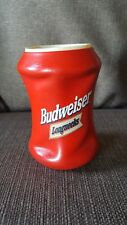Vintage Budweiser Red Longnecks Koozie - Beer Cooler - Excellent!