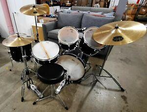 Mapex Horizon 5 Piece Drum Kit - Black With Cymbals & Hardware