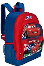 Retired Disney Store Mc Queen cars & Fracesco Bernoulli 3D Decal Backpack