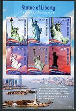 Antigua & Barbuda 2016 MNH Statue of Liberty 130th 6v M/S Architecture Stamps