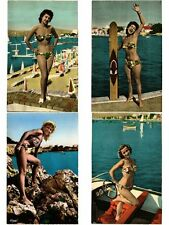 PIN UP EROTIQUE RISQUE GIRLS FEMMES 27 CPA 1950's