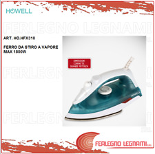 HOWELL FERRO DA STIRO A VAPORE CON PIASTRA IN ACCIAIO 1800W ART. HO.HFX310