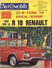 L'AutOmobile August Ford Ts Giulia,R10 Renault French Auto Magazine 051617nonDBE