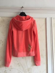 NWT Juicy Couture Womens Velour Hoodie Jacket S Coral