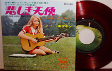 """MARY HOPKIN """"Those Were The Days"""" 1968 Japan ONLY RED VINYL 45 w/ps BEATLES"""