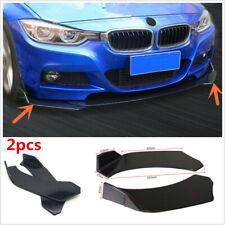 2x Car Universal Black ABS Front Bumper Lip Diffuser Splitter Canard Protector