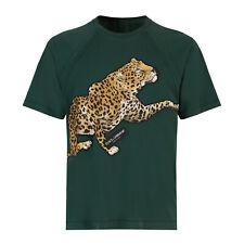 Dolce & Gabbana Crew-Neck T-Shirt In Mid Green Cotton Jersey