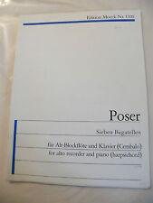 Partition Sieben Bagatellen Poser Edition Moeck 1509