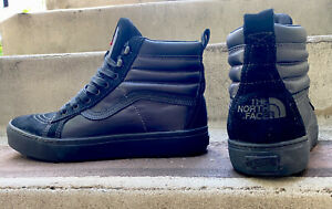 VANS VAULT x NORTH FACE Size 10 Sk8 Hi MTE LX Black Suede Leather Hike Rare
