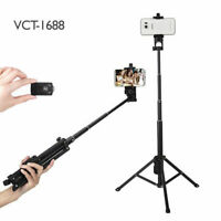 Tripod Extendable Selfie Stick Strong Holder + Bluetooth Remote For Apple