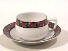 "Alte Porzellan-Tasse Miniatur Tasse mit Untertasse ""Kerberg""? ""Herberg""... 5 cm"
