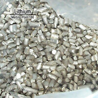 High Purity 99.9% Pure Lithium Li Metal Element Sealed Argon