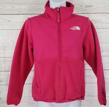 The North Face Winter Jacket Sz 10 / 12 Girl Medium Pink Fleece Nylon Zip Coat