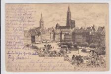 AK Strasbourg, Strassburg, Kleberplatz, Radierung 1901