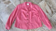 Vintage Gianni Sport Sz 16 Coral Lined LS Button Front Jacket Career Made in USA