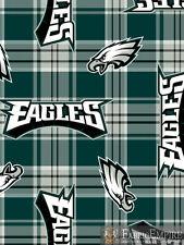 NFL Philadelphia Eagles Plaid Licensed Fleece Fabric NL-NFL-62-OT