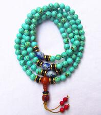 8mm tibet tibetan turquoise buddhist buddha worry prayer bead mala bracelet