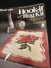Vintage Vogart Latch Hook Rug Kit 4303 / American Beauty Rose