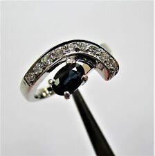 1867 - Dekorativer Ring aus Weißgold 585 mit Saphir und Brillanten - 2250/4