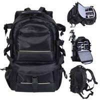 32*17*47cm Black Deluxe Camera Backpack Bag Case Sony Canon Nikon DSLR SLR