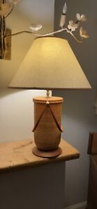 Nantucket Lightship basket lamp .