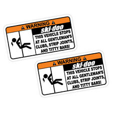 2X WARNING SKI-DOO Sticker Decal Car Drift Turbo Euro Fast Vinyl #1174