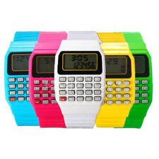 digitale Silicone Studenti calcolatore data orologio da polso elettronico qtl