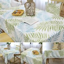 Leaf Printed Lace Tablecloth Rectangular Square Tea Table Cloth Cover Desk Decor