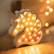 LED wooden unicorn mirror light fairy lights Christmas party XMAS Girls bedroom