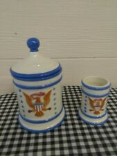 Vintage Bicentennial Cannister & Toothpick Holder~A 4th Of July Party.