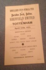 1901 FA CUP FINAL REPLAY  - TOTTENHAM HOTSPUR V SHEFFIELD UNITED - COPY -