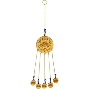 Laser-Etched LOTUS Wooden Chime w/Chakra Colored Beads!
